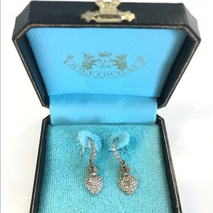 Juicy Couture Gold Tone Crown Heart earrings
